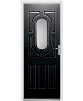 Ultimate Arcacia Rockdoor in Onyx with Clear Glazing