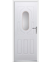 Arcacia Rockdoor in White with Clear Glazing