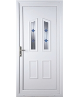 Doncaster Blue Stud uPVC Door