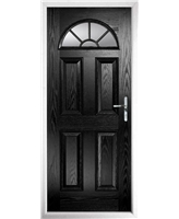 The Jamestown Composite Door in Black with Glazing