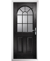 The Leeds Composite Door in Black with Clear Glazing