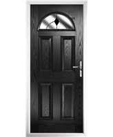 The Derby Composite Door in Black with Black Diamonds