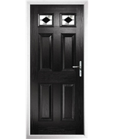 The Ipswich Composite Door in Black with Black Diamonds