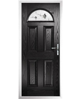 The Derby Composite Door in Black with Black Murano