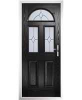 The Glasgow Composite Door in Black with Classic Glazing