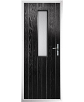 The Sheffield Composite Door in Black with Glazing