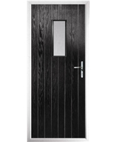 The Taunton Composite Door in Black with Glazing