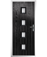 The Uttoxeter Composite Door in Black with Clear Glazing