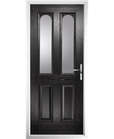 The Aberdeen Composite Door in Black with Clear Glazing