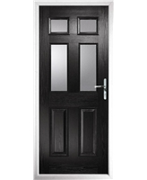 The Oxford Composite Door in Black with Clear Glazing