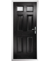 The Ipswich Composite Door in Black with Clear Glazing