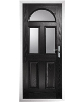 The Glasgow Composite Door in Black with Glazing