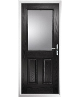 The Farnborough Composite Door in Black with Clear Glazing