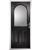 The Edinburgh Composite Door in Black with Clear Glazing