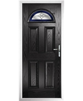 The Derby Composite Door in Black with Blue Crystal Harmony