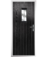 The Taunton Composite Door in Black with Black Crystal Harmony