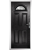 The Derby Composite Door in Black with Black Crystal Harmony