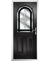 The Edinburgh Composite Door in Black with Black Crystal Harmony