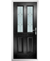 The Cardiff Composite Door in Black with Classic Glazing