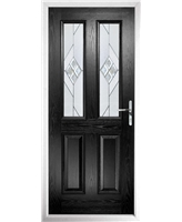 The Cardiff Composite Door in Black with Eclipse Glazing