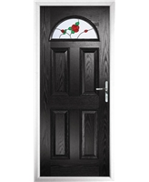 The Derby Composite Door in Black with English Rose