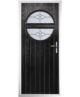 The Queensbury Composite Door in Black with Finesse Glazing
