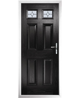 The Ipswich Composite Door in Black with Flair Glazing