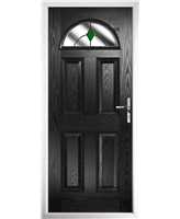 The Derby Composite Door in Black with Green Diamonds