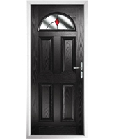 The Derby Composite Door in Black with Red Diamonds