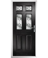 The Oxford Composite Door in Black with Simplicity