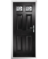 The Ipswich Composite Door in Black with Simplicity