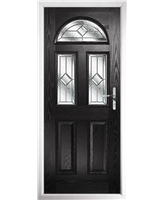 The Glasgow Composite Door in Black with Simplicity