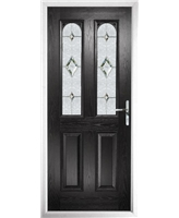 The Aberdeen Composite Door in Black with Crystal Diamond