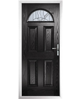 The Derby Composite Door in Black with Zinc Art Abstract