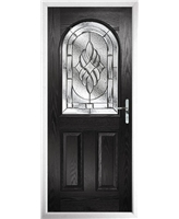 The Edinburgh Composite Door in Black with Zinc Art Elegance