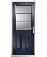 The Kettering Composite Door in Blue with Clear Glazing
