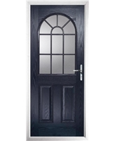 The Leeds Composite Door in Blue with Clear Glazing