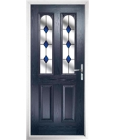 The Aberdeen Composite Door in Blue with Blue Diamonds