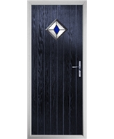 The Reading Composite Door in Blue with Blue Diamond