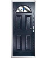 The Derby Composite Door in Blue with Blue Diamonds