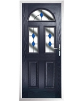 The Glasgow Composite Door in Blue with Blue Diamonds