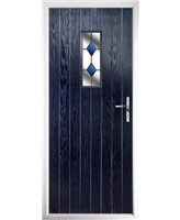 The Taunton Composite Door in Blue with Blue Diamonds