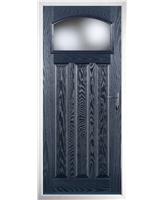 The Tythe Composite Door in Blue with Glazing