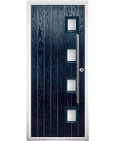 The Norwich Composite Door in Blue with Glazing