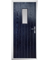 The Taunton Composite Door in Blue with Clear Glazing