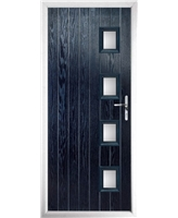 The Preston Composite Door in Blue with Clear Glazing