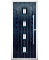 The Leicester Composite Door in Blue with Glazing