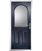 The Edinburgh Composite Door in Blue with Clear Glazing