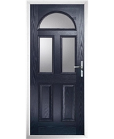 The Glasgow Composite Door in Blue with Clear Glazing
