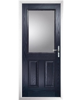 The Farnborough Composite Door in Blue with Clear Glazing